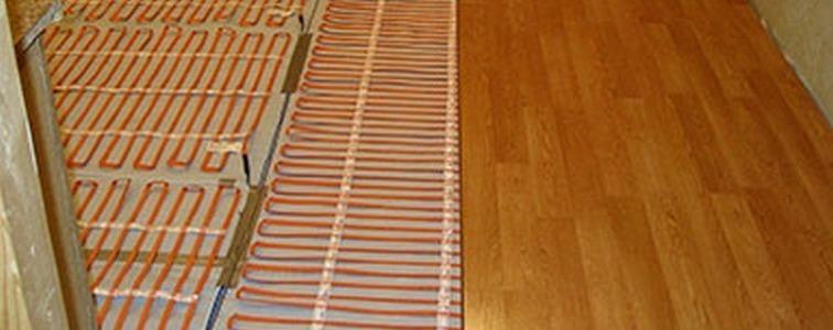 кабельный теплый пол под ламинат proteco